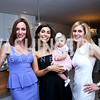 Kristin Cecchi, Samar and Laila Langhorne, Stacey Lubar. Photo by Tony Powell. UNICEF Syrian Children Fundraiser. Langhorne residence. June 4, 2014