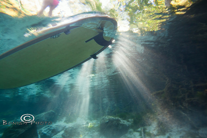 Sunbeams on the Stand Up Paddle Board - Underwater Photography by Pat Bonish