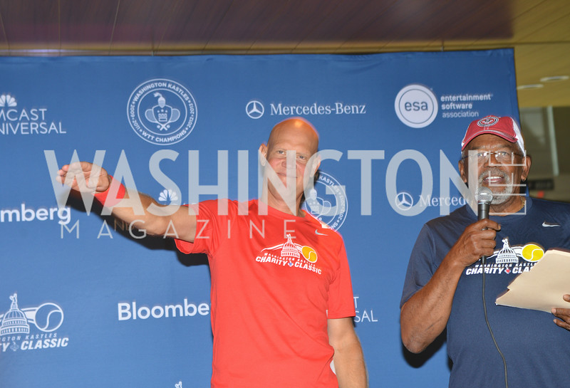 Murphy Johnson, Jim Vance, Washington Kastles Congressional Charity Classic, GW Smith Center, Tuesday, July 15, 2014, Photo by Ben Droz.