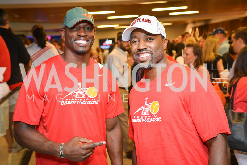 Rocky McIntosh, Josh Wilson,  Washington Kastles Congressional Charity Classic, GW Smith Center, Tuesday, July 15, 2014, Photo by Ben Droz.