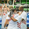 Leander Paes hugs Congresswoman Tulsi Gabbard,  Washington Kastles Congressional Charity Classic, GW Smith Center, Tuesday, July 15, 2014, Photo by Ben Droz.