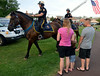 Bethlehem Police Department Mounted Patrol Unit Officers ride through Souderton Community Park during the Souderton and Telford Police Departments Community Night Out on Tuesday evening August 19,2014. Photo by Mark C Psoras/The Reporter