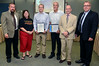 Lansdale borough officials present a proclamation and the borough's Business of the Month award to Jamie, left center, and Chris Hemmerle of Hatfield based A & L Finishing Co. for their help rescuing lost children last month. From left are council President Jason Van Dame, council member Mary Fuller, Mayor Andy Szekely and police Sgt. Alex Kromdyk. Photo by Mark C Psoras/ The Reporter