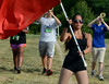 The North Penn High School Marching Knights rehearse during band camp at the school  on Tuesday afternon August 19,2014. Photo by Mark C Psoras/The Reporter