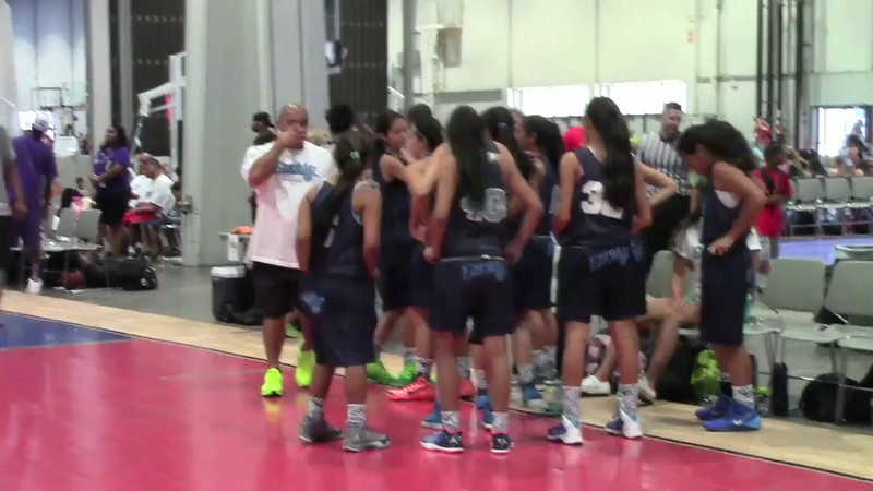 2014 AAU West Coast Nationals Championship Eastsidaz vs Vegas Thunder (61-58)