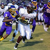 Nash Central Naszae Morallis # 5 during tonights game. Tarboro defeats Nash Central  33-6 in the season opener. Friday August 22, 2014 in Tarboro, NC (Photos By Anthony Barham)