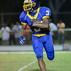 Tarboro Daniel Lewis #3 during tonights game. Tarboro defeats Nash Central  33-6 in the season opener. Friday August 22, 2014 in Tarboro, NC (Photos By Anthony Barham)