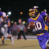 Tarboro 'Malcolm Speller # 10 during tonights game. Tarboro defeats Nash Central  33-6 in the season opener. Friday August 22, 2014 in Tarboro, NC (Photos By Anthony Barham)