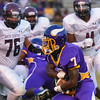 Tarboro Deshan Farmer #7 during tonights game. Tarboro defeats Nash Central  33-6 in the season opener. Friday August 22, 2014 in Tarboro, NC (Photos By Anthony Barham)