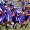 Tarboro Dawson Harris #12 during tonights game. Tarboro defeats Nash Central  33-6 in the season opener. Friday August 22, 2014 in Tarboro, NC (Photos By Anthony Barham)