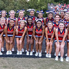 Southern Nash cheerleaders during tonights game. Beddingfield defeats Southern Nash 19-7 on Thursday night August 28, 2014 in Wilson NC (Photos By Anthony Barham)