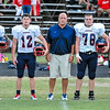 Southern Nash Captains for tonights game .Beddingfield defeats Southern Nash 19-7 on Thursday night August 28, 2014 in Wilson NC (Photos By Anthony Barham)