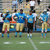Beddingfield Captains for tonights game. Beddingfield defeats Southern Nash 19-7 on Thursday night August 28, 2014 in Wilson NC (Photos By Anthony Barham)