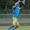 Beddingfield  Miguel Brown #1 during  tonights game .Beddingfield defeats Southern Nash 19-7 on Thursday night August 28, 2014 in Wilson NC (Photos By Anthony Barham)