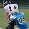 Southern Nash Zack Foster #14 during tonights game. Beddingfield defeats Southern Nash 19-7 on Thursday night August 28, 2014 in Wilson NC (Photos By Anthony Barham)