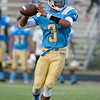 Beddingfield Kavajae Ellis #3 during tonights game.Beddingfield defeats Southern Nash 19-7 on Thursday night August 28, 2014 in Wilson NC (Photos By Anthony Barham)