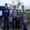 Chris from Germany, Mathias from Belgium and host siblings Dustin, Carter and Makayla are ready for school in Texas.