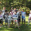"A game of ""shaving cream tag"" breaks out between exchange students and host siblings in North Carolina!"