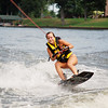 Federica from Italy learns the art of wakeboarding in Illinois