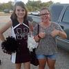 Laura from France spots a real American cheerleader in her Texas high school.