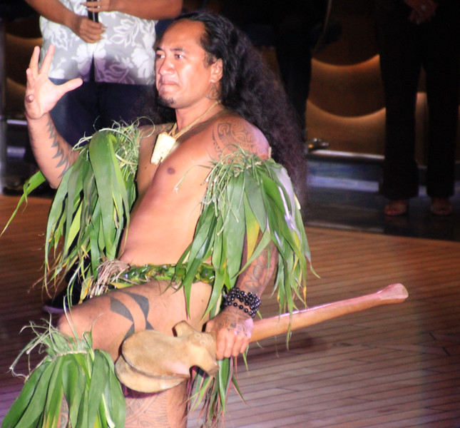 Folkloric show from Nuku Hiva, French Polynesia