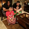 Rafael from Brazil and his host family during the holidays in Texas.