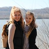 Rahel from Germany goes hiking with her host sister on a trip to Indiana from Kentucky.