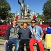 Marius from German, Alex from Denmark and Alex's host brother soak up a sunny winter day at Disneyland.