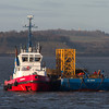 Tug Tummel and barge