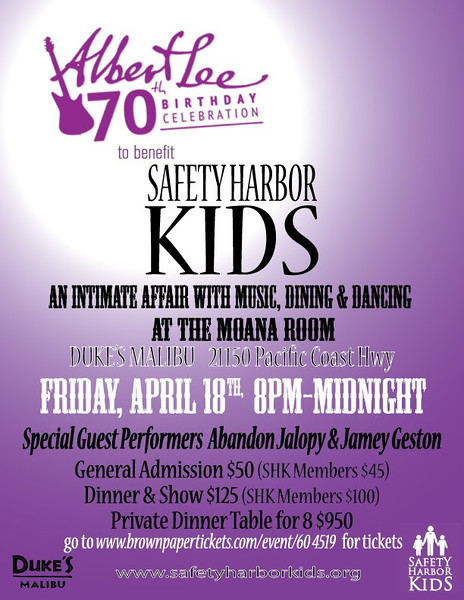 0000_04-18-14, Albert Lee 70th Birthday Celebration to Benefit Safety Harbor Kids