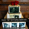 A cake for Ambrosio Maldonado who is celebrating his 90th birthday, Four generations of the family has worked at Santa Anita Park in Arcadia, Calif., on Saturday, Dec. 7, 2013.   (Keith Birmingham Pasadena Star-News)