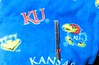 "Blue KU Fleece for Hoodies - large print - included 6"" ruler.  I don't have a sample hoodie to show from this, but could put the Jayhawk, the beak, or the KU on the front. The word Kansas is too large to fit on the front."