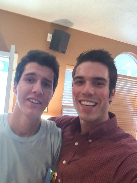 Selfie picture of Stephen and Chris from Easter.