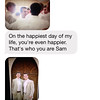 Precious text from Patrick to Sam - June 2014