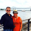 Angela and Barney - Mississippi River - New Orleans - July