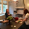 Rachel and her mom, Roxanne cooking Christmas lunch - Dec