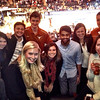 Sam with fellow Longhorns at the UT game at Madison Sq Gardens - NYC - Nove