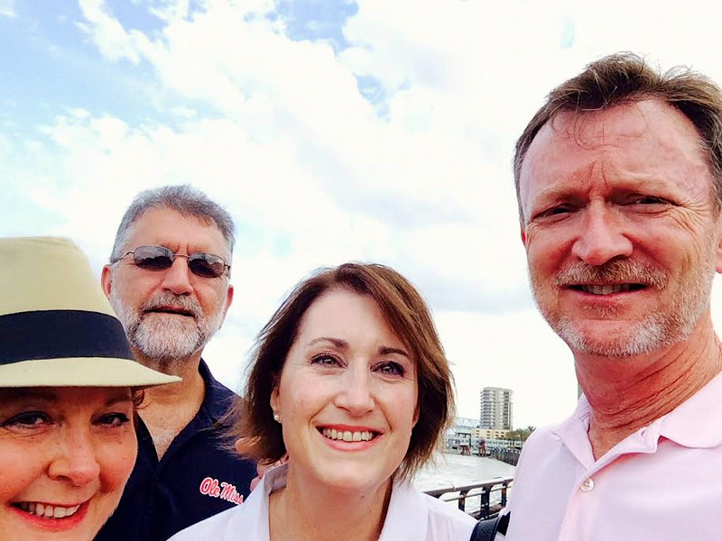 With Barney-Angela - Mississippi River - New Orleans - July