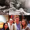 Then and Now - )  - Cat and Ben with his best man and Rachel - - ) - Feb