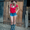Nikon D800 Photos Pretty Cowgirl Model, Blue Jeans Cutoffs, Cowboy Hat, Cowboy Boots, & Gun! The Gold 45 Revolver! AF-S Nikkor 50mm f/1.4G Lens !