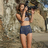 Bikini Swimsuit Model Shooting Simultaneous Stills & Video with a Nikon D800 E & Camcorder