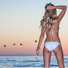 Canon 5D Mark II photos of Beautiful Blonde Swimsuit Bikini Model Goddess during Socal Sunset / Dusk Magic Hour!