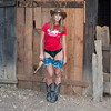 Nikon D800E Photos Pretty Cowgirl Model, Blue Jeans Cutoffs, Cowboy Hat, Cowboy Boots, & Gun! The Gold 45 Revolver!