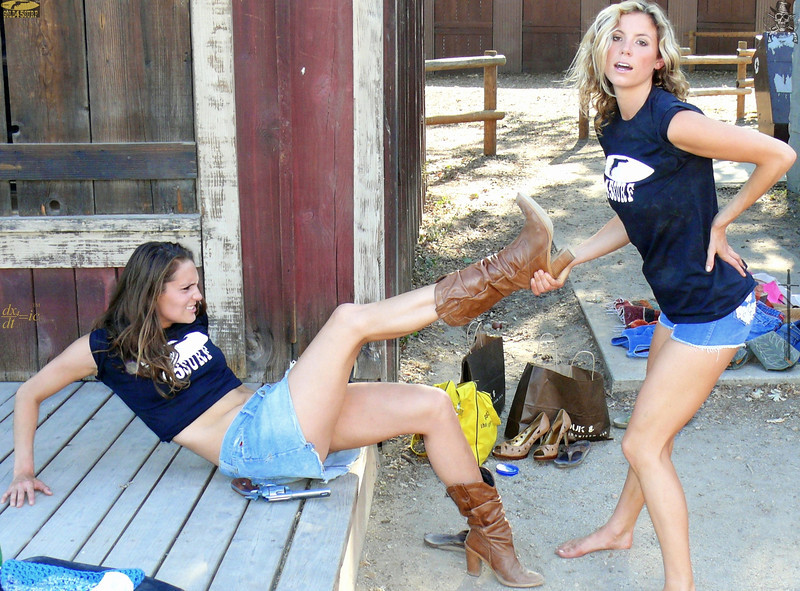 Two Pretty Cowgirl Models
