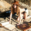 Nikon D800 Photos of Swimsuit Bikini Model Goddess reading Great Books!