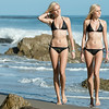 Nikon D800 Photos of Twin Sister Bikini Swimsuit Model Goddesses
