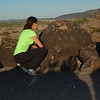 Feeling the buzz of gone by history in the touchable petroglyphs at Painted Rock, Arizona.