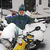 Snowed in with a new pillion in Dillon, Colorado, 9000'.