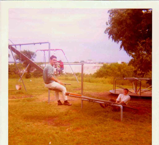 AF Friends - Lake Nasworthy BBQ, spring 1970, might be Joe Bonafine and Butch Benton - not sure tho