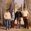 Stonehenge Trip, on the road  L-R- Pat Colby, unk, Paul Stumer, and Tom  sep 1972